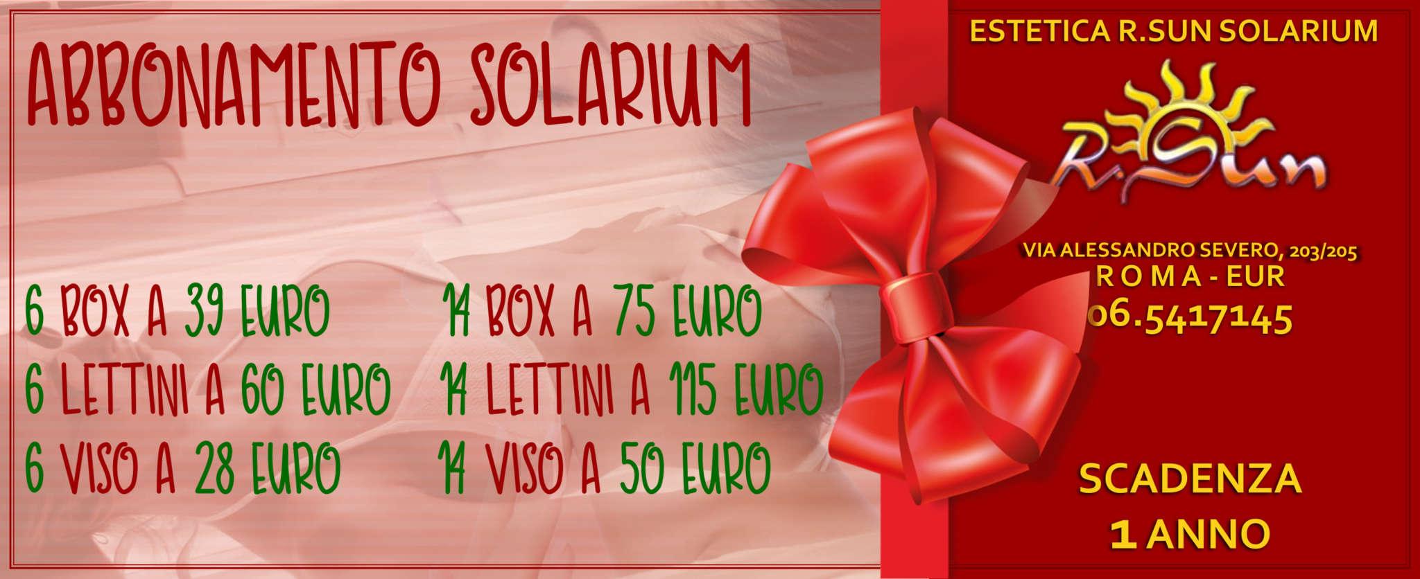Estetica-R.Sun-Roma-Eur-abbonamento-trattamenti-solarium-natale-2018