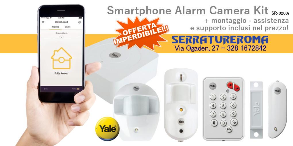Sistema di allarme Yale Smartphone Alarm Camera Kit