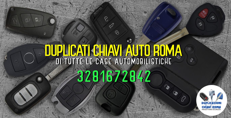 riproduzione chiavi auto roma