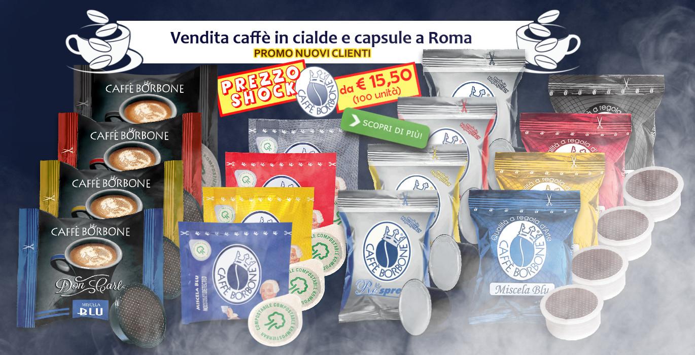 Vendita caffè in cialde e capsule compatibili a Roma