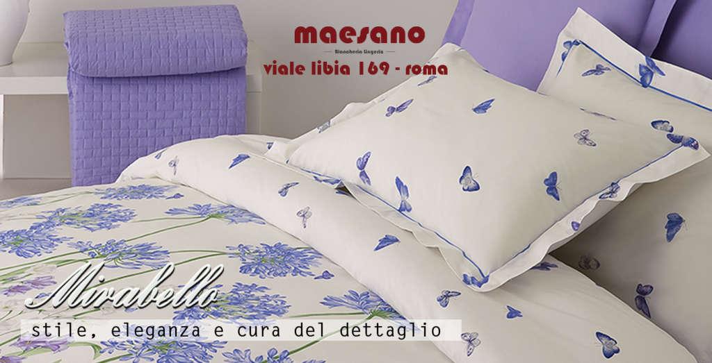Mirabello Carrara è disponibile a Roma presso Maesano biancheria e lingerie